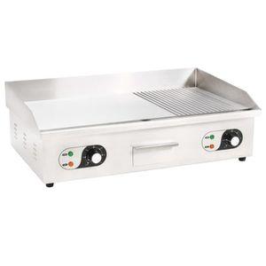 PLANCHA DE TABLE Plancha électrique Acier inoxydable 4400 W 73 x 51