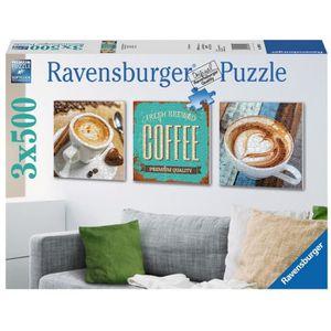 PUZZLE Puzzle 500 pièces 3 Puzzles - Le Plaisir du Café