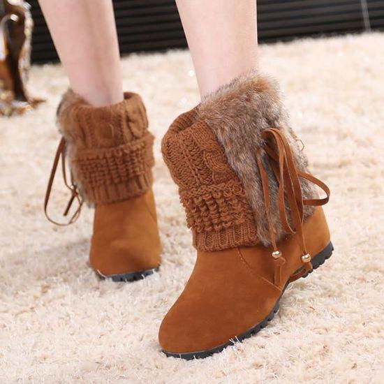 Bottes de neige pour femmes chaussures d'hiver jaune / Jaune Jaune - Achat / jaune Vente botte 212ff3