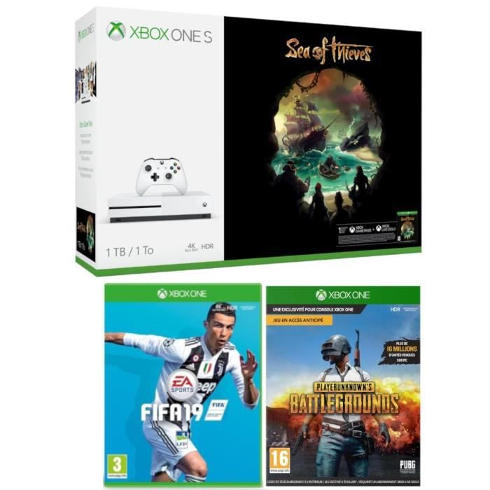 Xbox One S 1 To Sea of Thieves + Fifa 19 + PUBG
