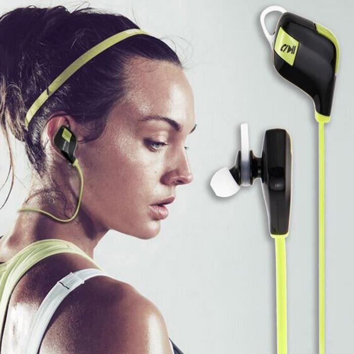 Andoer Casques Bluetooth V4.1 Stéréo Ecouteursmini Léger Sans Fil Intra-auriculaires Avec Microphone Sport Courir Gym Exercice