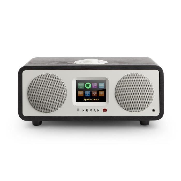 Numan One – 2.1 Radio Internet Design Bluetooth Spotify Connect Dab-dab -noir