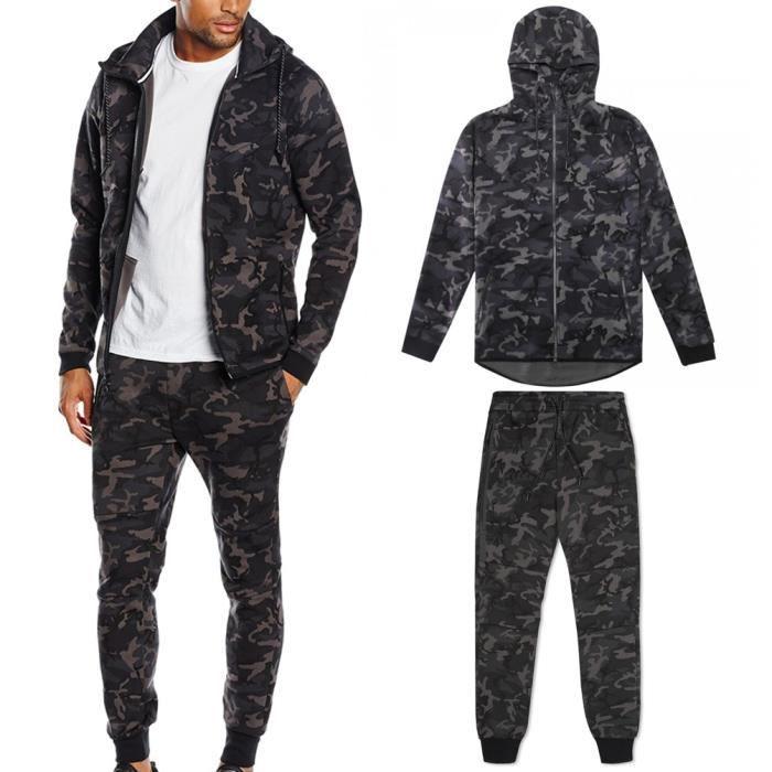Survêtement Ensemble Tech cotton camouflage militaire noir collection 2016 b89fc6d6569