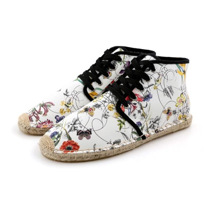 Mode Femme Chaussures Toile Impression Hommes F...