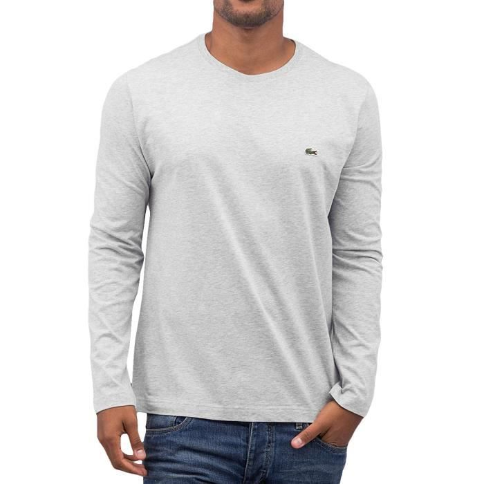 c08b2532ed Lacoste Classic Homme Hauts / T-Shirt manches longues Classic Gris ...