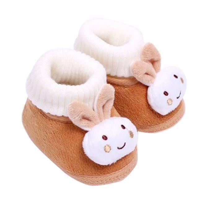 Chaussures de bébébébé Chaussures bottes enfant enfant fille garçon chaussures berceau bottes Soft marron