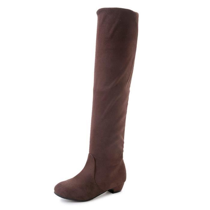 bottes femmes Extravagant Beau Chaussures décontractées personnalité charmant Confortable bottes à talons femm dssx424marron40