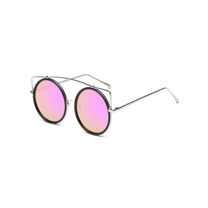 Lunettes de soleil lentilles claires lunettes métal Frame @Lunette 204