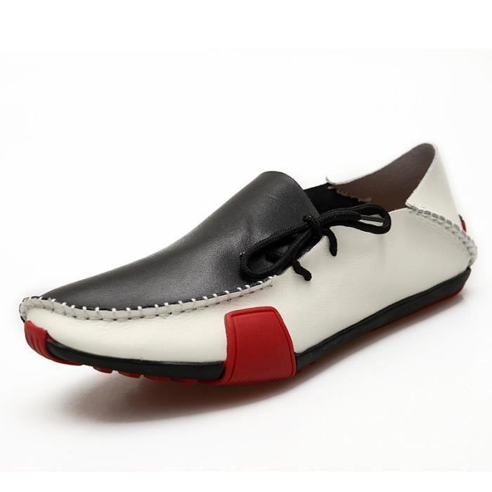 Chaussures Hommes Casual nouvelles Véritable Slip en cuir sur les hommes Mocassins Mocassins Flats Sapatos Masculinos sociale