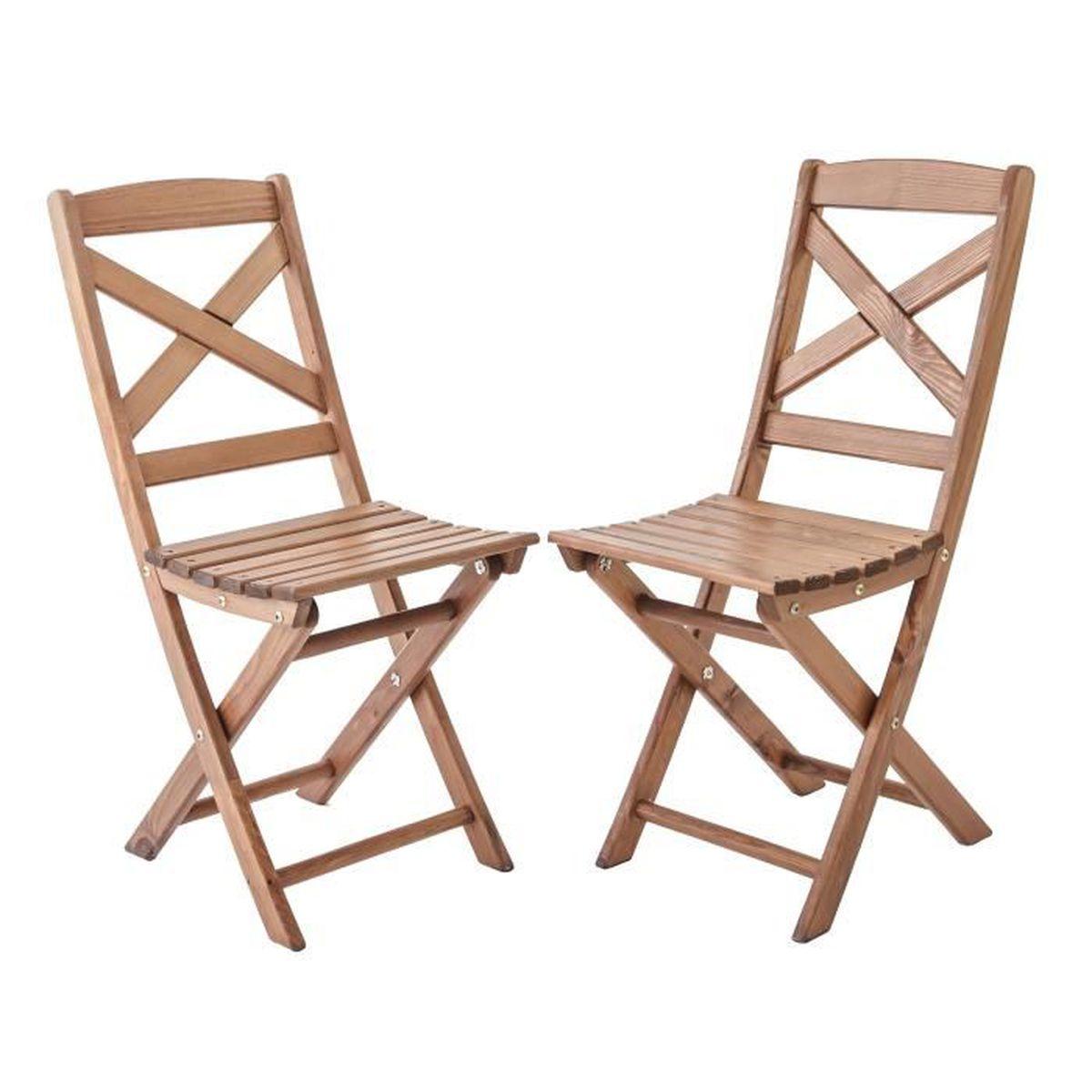 fauteuil jardin lot de 2 chaises pliables pour jardin ou balcon lo - Chaises Pliables