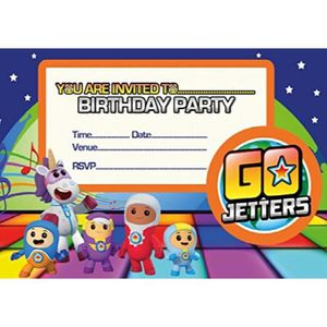COUPELLE - COUPE GLACE 3dr Go Jetters A5 Taille Party Invitations - 20 pa