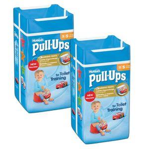 HUGGIES Lot de 2 Pull-Ups Boy Taille 4 - De 8 ? 15kg - 16 couches