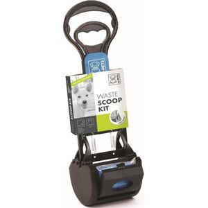 M-PETS Kit pelle ? déjection Waste Scoop Kit - 38x12x10,5cm - Noir et bleu - Pour chien