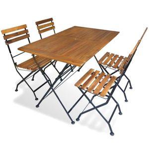 Magnifique salon de jardin teck massif 6/8 pers 4 chaises 2 ...