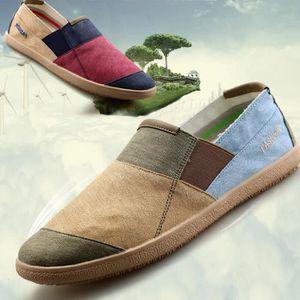 chaussures multisport Homme de sport Casual Canvas Slip sur Mocassins bleu taille40 B4d8G