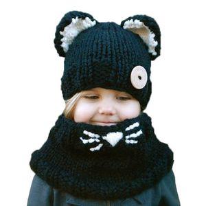 028e53999511 BONNET - CAGOULE Bonnet avec Oreille Bébé Enfant Tricoté Cache Cou