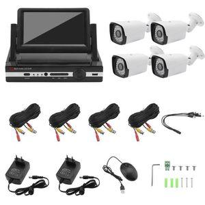 CAMÉRA DE SURVEILLANCE Kit de vidéosurveillance 1080P NVR avec écran moni