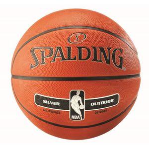 BALLON DE BASKET-BALL Ballon Spalding NBA Silver Outdoor - orange-noir -