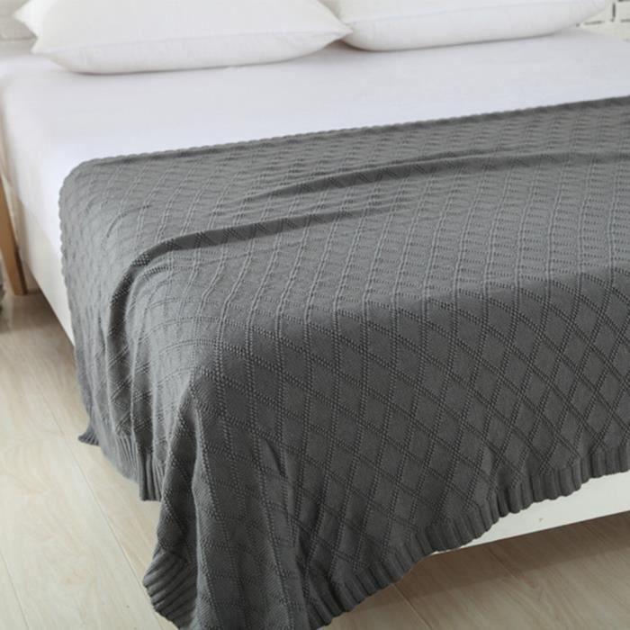 Plaid en coton pour canap affordable plaid coton canape - Plaid pour lit ...