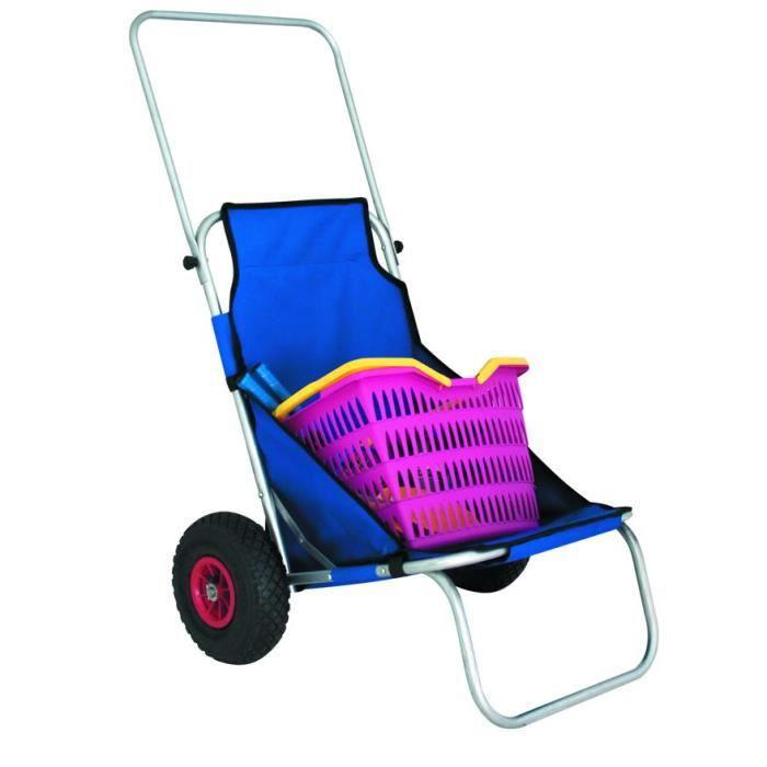 Chaise De Plage Avec Roulette Eurotrail Prix Pas Cher Cdiscount
