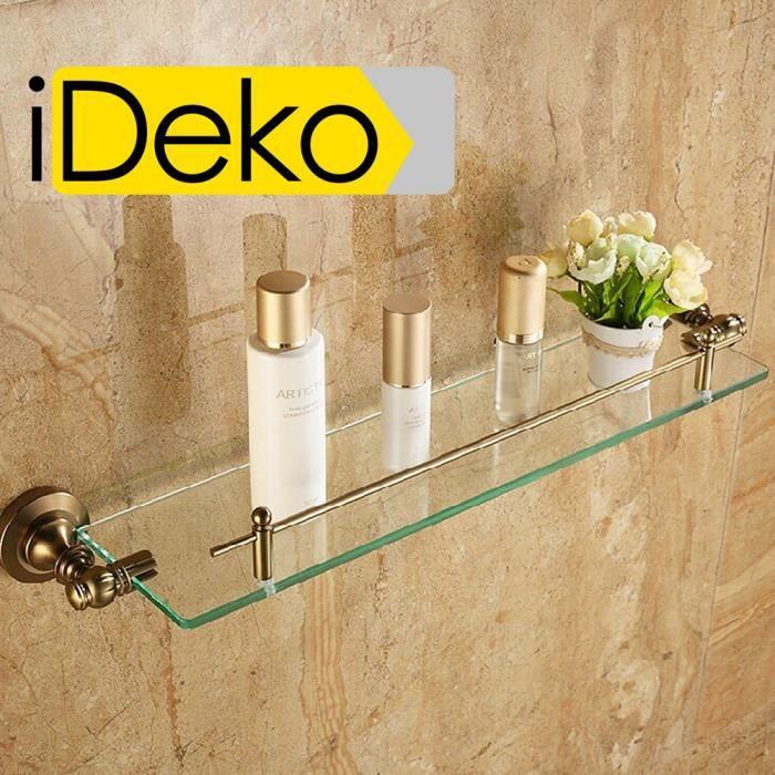 IDeko® Etagère porte accessoire douche unique mural porte rangement ...