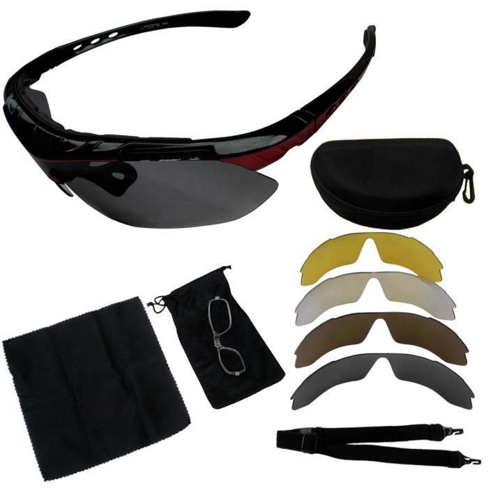 sports de plein air vélo lunettes de soleil lunettes 5 lunettes de soleil polarisées vélo lunettes de soleil noir