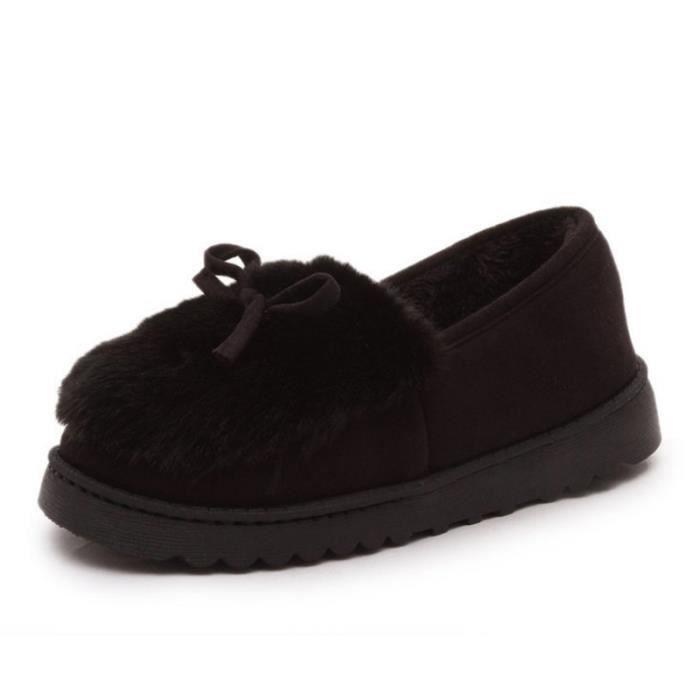 Chaussures Femme Hiver Peluche fond épaisé Chaussure DTG-XZ065Noir38