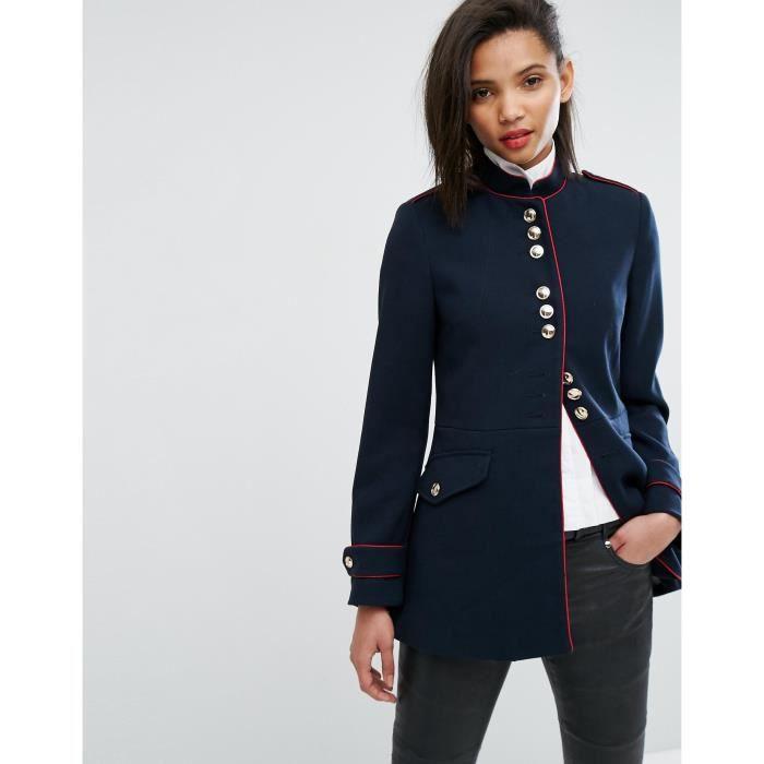 grande vente 61768 07cde Mango Manteau militaire des femmes H20W1 Bleu - Achat ...