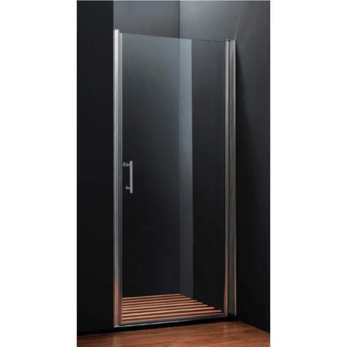 Porte de douche pivotante 90 cm achat vente cabine de Porte de douche coulissante arrondie