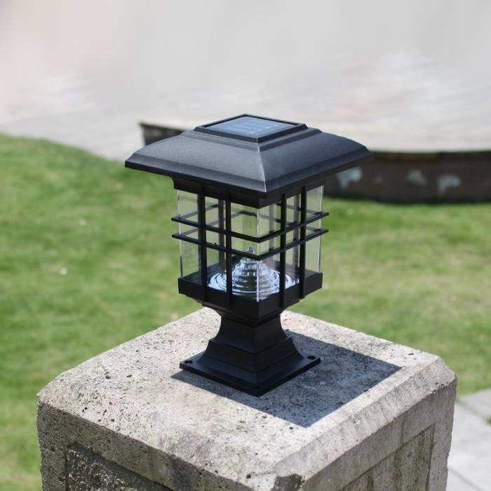 lampe solaire pour pilier de portail design de maison. Black Bedroom Furniture Sets. Home Design Ideas
