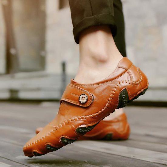 Affaires À En Cuir Résistant 3210i1934 Chaussures Antidérapante Souple L'usure Plat Face Des Casual Hommes Avec qwRFrUfq1x