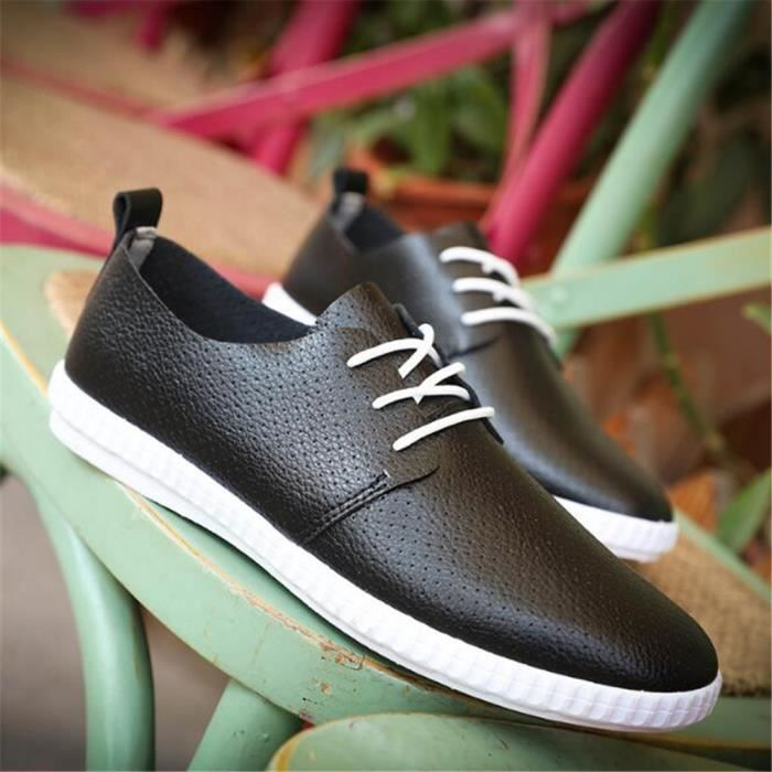 Moccasin homme En Cuir Marque De Luxe chaussures Cuir Nouvelle Mode Moccasin 2017 ete cool chaussure hommes Respirant Grande Taille rUDErB