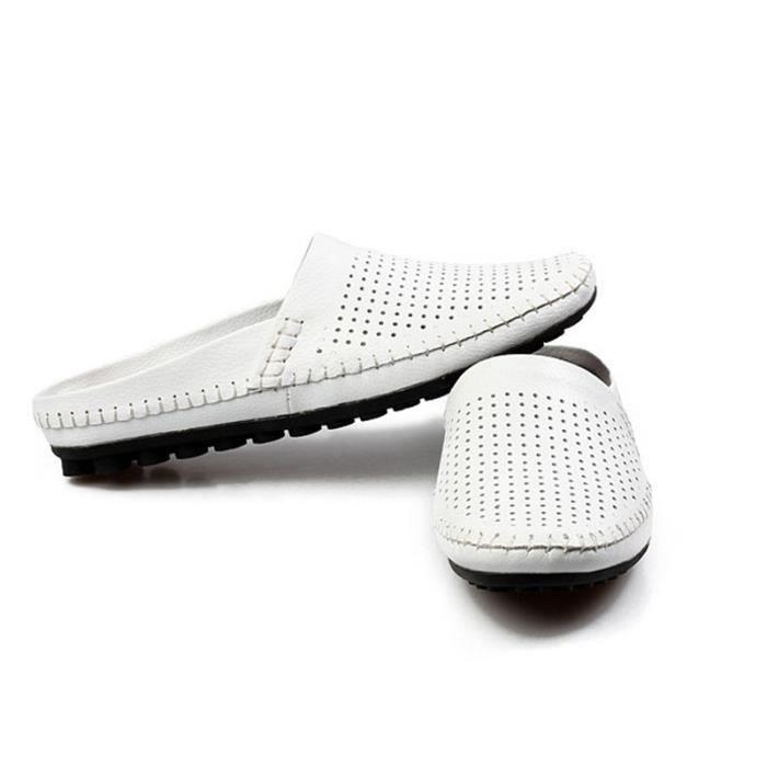 D'été Hommes Chaussures En Mâle Respirant Designer Plat Pantoufle De Mode Confortable Doux Occasionnels Réseau Cuir Sandales