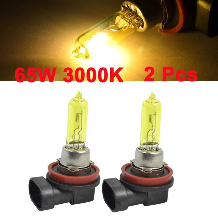 2 Phare H9 Halogène Ambre Conduite Drl Ampoules Antibrouillard Ampoule De qqtU0Sx