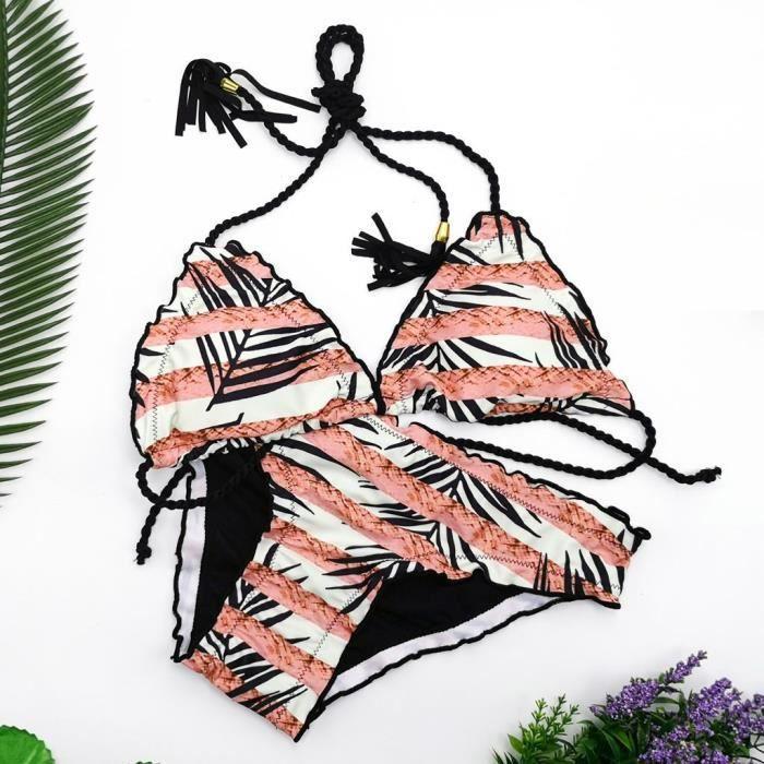 Fleur Bandage Tankini Rose Plage Bikini Femmes Maillot De Maillots Bain F1S0IBB