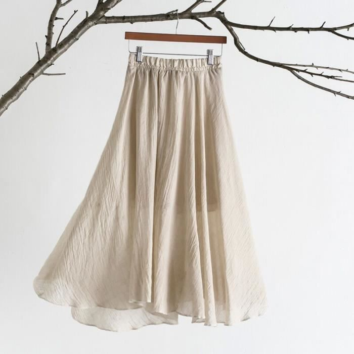 Une jupe skirt jupe Summer sen femmes une bande élastique une robe couleur solide-