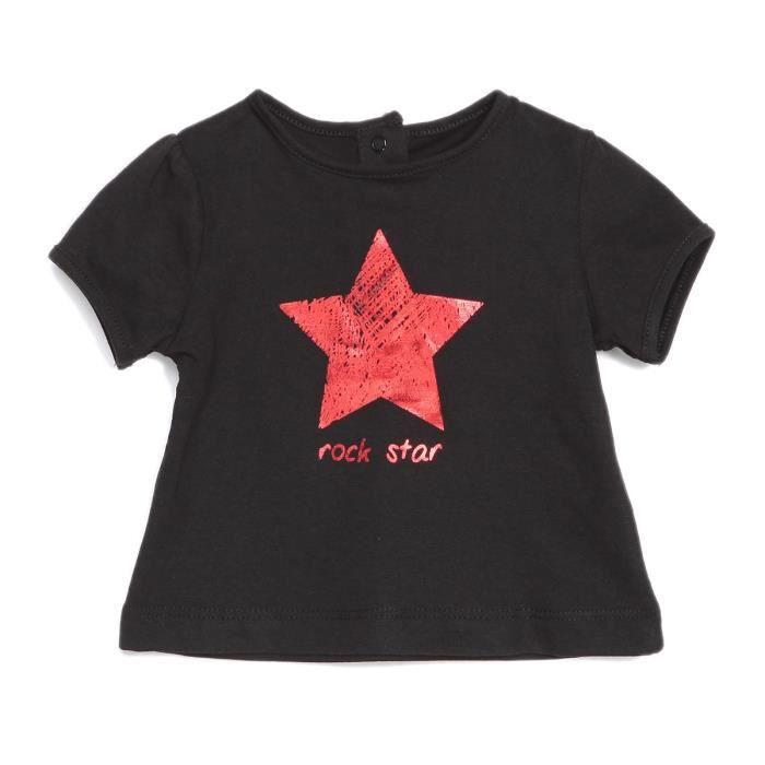 BÉBÉ RêVE Glitter T-shirt Noir Bébé mixte