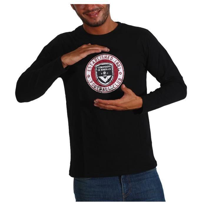 FCGB Tee shirt Established Manches longues - Adulte - Noir