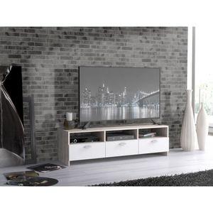 MEUBLE TV FINLANDEK Meuble TV HELPPO contemporain décor chên