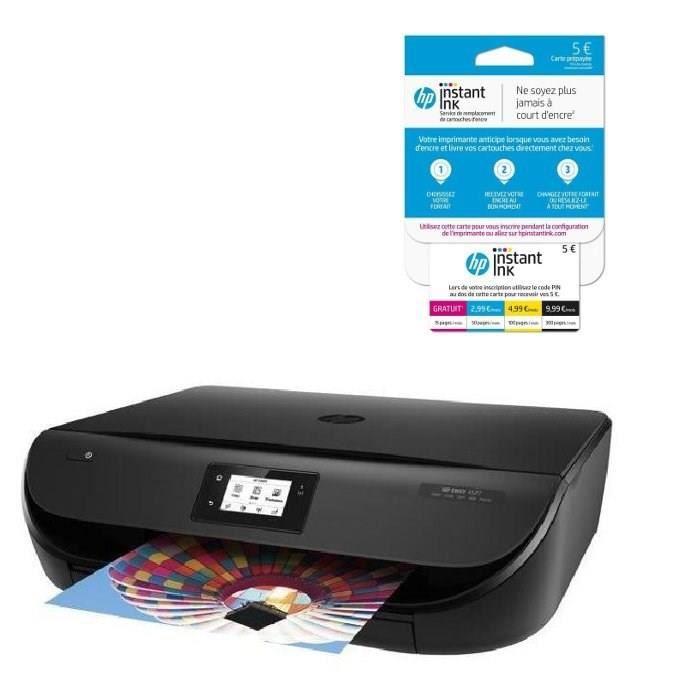 HP Imprimante Envy 4527 + Carte Instant Ink crédit de 5€ sur votre compte