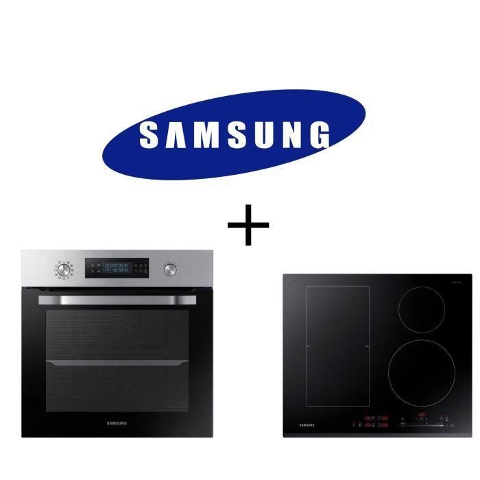 PACK cuisson SAMSUNG : NV66M3571BS Four électrique encastrable-Chaleur pulsée-66L + NZ64K5747BK - Table de cuisson induction