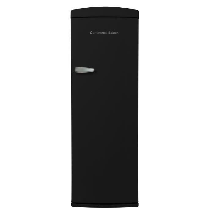 CONTINENTAL EDISON CE1DF311BV - Réfrigérateur 1 porte - 311L - Froid brassé - A+ - L 60,5cm x H 176,9cm - Noir
