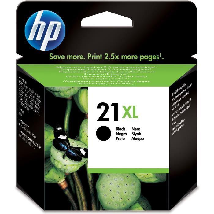 HP Cartouche d'encre 21XL - 475 pages - Pack de 1 - Noir
