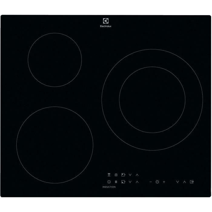 ELECTROLUX CIT60331CK - Table de cuisson induction - 3 zones - 7350 W - L 59 x P 52 cm - Revêtement