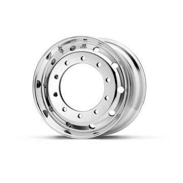 Roue ALCOA en aluminium forgé pour Poids Lourd - 22.5x11.75 déport 0 mm - Perçage 26 mm - Capacité 5.000 kg - Finition Dura-Bright