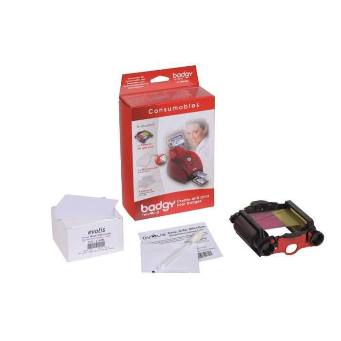 Pack complet consommables Badgy + cartes (0,50 mm)