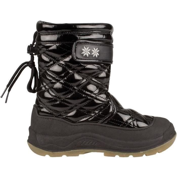 Enfant Mixte - Noir - Semelle caoutchouc - Avec couche intermédiaire imperméableAPRES-SKI - SNOWBOOT - BOOTS DE SKI