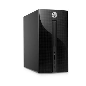 HP PC BUREAU Pavilion - 570p021nf - 4 Go de RAM - Windows 10- Intel Core i3-7100 - Intel HD Graphics - Disque dur 1 To + 128 Go SSD