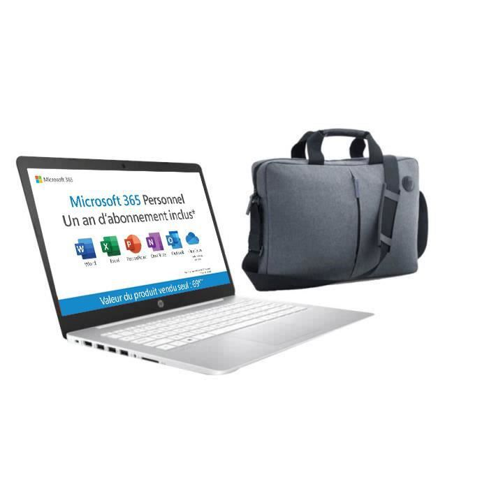"""HP PC Portable Stream 14-ds0001nf - 14"""" HD - AMD A4 - RAM 4Go - Stockage 32Go - AZERTY - Office"""