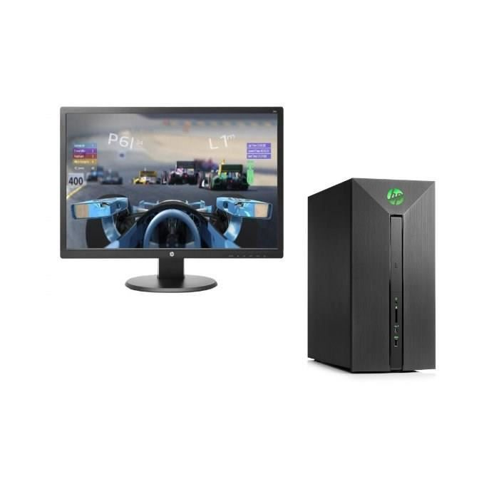 HP PC de Bureau Pavilion Power 580-155nf - i5-8400 - 8Go de Ram + 1To de stockage - Nvidia GeForce GTX 1050 - W10+ Ecran 24o FHD 24\